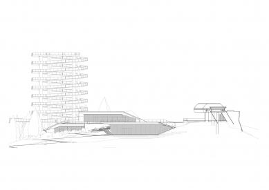 Bachledka – vrcholová vybavenosť - Jihozápadní pohled - foto: Compass architekti