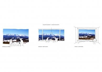 Bachledka – vrcholová vybavenosť - Schéma - foto: Compass architekti