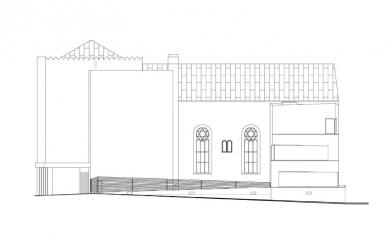 Rekonstrukce a dostavba synagogy v Praze - foto: ZNAMENÍ ČTYŘ - architekti