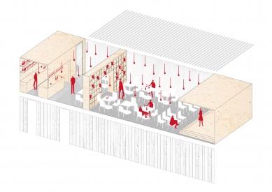 Viola centrum pre umenie - Axonometrie - foto: zerozero