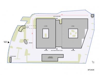 Výrobní a administrativní areál firmy Tescan II. - Situace