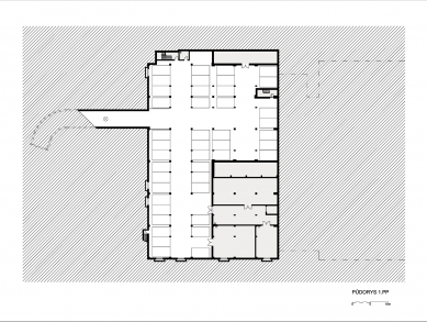 Výrobní a administrativní areál firmy Tescan II. - Půdorys 1PP