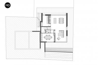Rodinný dům v Hloubětíně - Půdorys 1PP