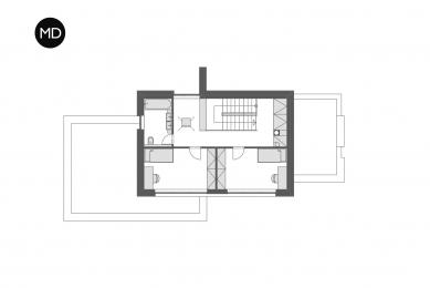 Rodinný dům v Hloubětíně - Půdorys 2NP