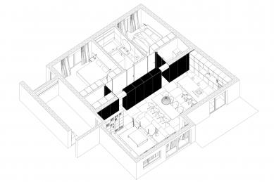 Byt K - Axonometrie - foto: Grau Architekti