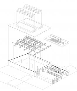 Sídlo firmy Elklima - Rozložená axonometrie - foto: žalský architekti