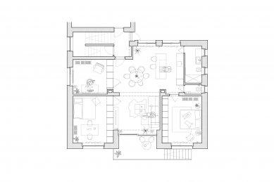 Byt M13 - Půdorys návrhu - foto: GRAU architects