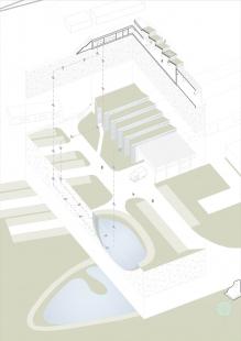 Průmyslová hala Liko-Vo - Axonometrie haly - foto: Fránek architects