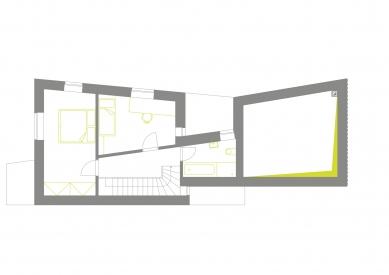Dům v Lubné - Půdorys 2.np - foto: Studio New Work