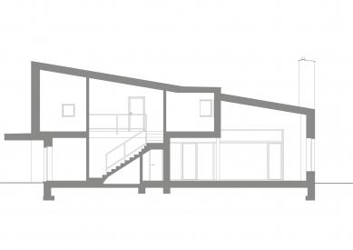 Dům v Lubné - Řez - foto: Studio New Work