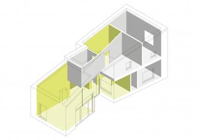 Dům v Lubné - Axonometrie - foto: Studio New Work