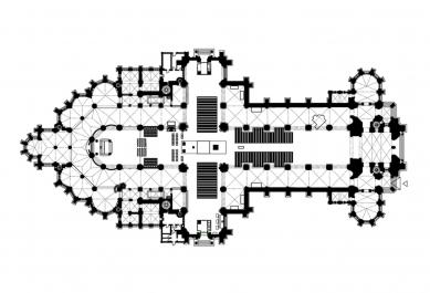Oltářní ostrov v lineckém Mariánském chrámu - foto: Kuehn Malvezzi architekten