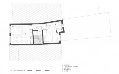 Apartmány na Hackney Road - Půdorys 3NP