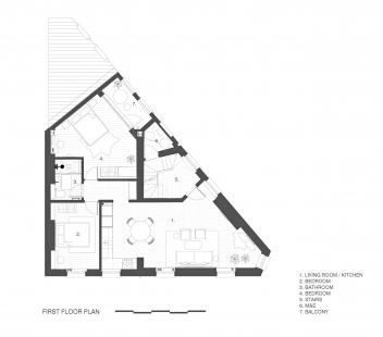 Apartmány na Widegate Street - Půdorys 2NP