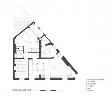 Apartmány na Widegate Street - Půdorys 3NP