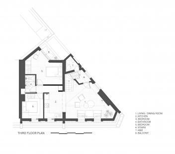 Apartmány na Widegate Street - Půdorys 4NP