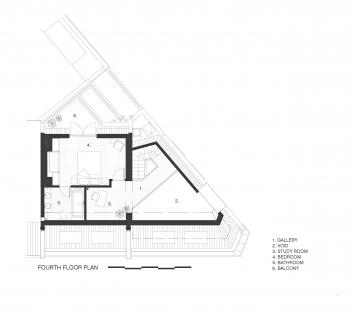 Apartmány na Widegate Street - Půdorys 5NP