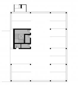 Bytové domy 13 a 22 v Podzámčí - Bytový dům 22 - půdorys suterénu