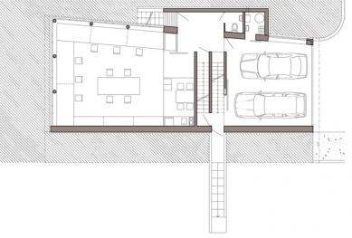 Rodinný dům s ateliérem - Půdorys 1pp - foto: © Architektonický ateliér KAAMA, Praha