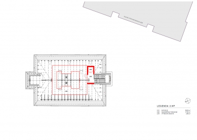 Rekonstrukce Müllerova domu - Půdorys 2NP
