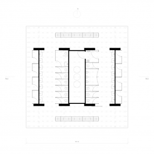 Rekreační areál Běstvina - hygienické zázemí - Půdorys - foto: žalský architekti