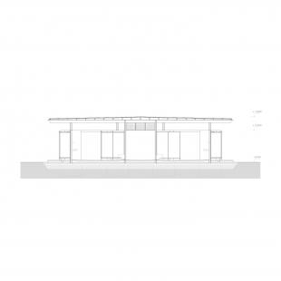 Rekreační areál Běstvina - hygienické zázemí - Řez - foto: žalský architekti