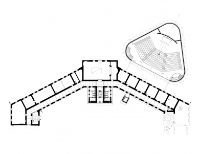 Nové výukové centrum VŠPJ - Půdorys 2NP