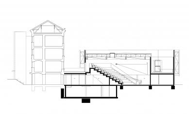 Nové výukové centrum VŠPJ - Řez