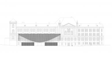 Nové výukové centrum VŠPJ - Pohled
