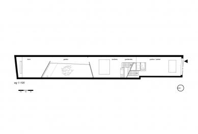 House cj_5 - housing in urban density - Půdorys přízemí - foto: Caramel Architekten