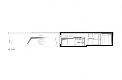 House cj_5 - housing in urban density - Půdorys patra - foto: Caramel Architekten