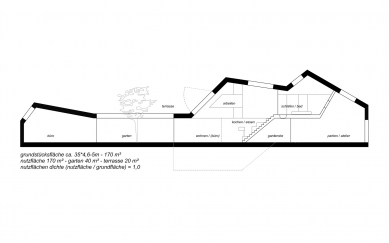 House cj_5 - housing in urban density - Podélný řez - foto: Caramel Architekten
