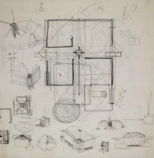 Venezuelan Pavilion for the Venice Biennale  - Skica pozdější varianty