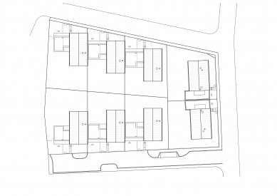 Obytný soubor Újezd u Průhonic - Situace - foto: SENAA architekti