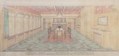 Hunting lodge St. Hubertus - Perspektiva obývacího pokoje - foto: Kröller-Müller Museum