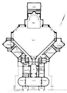 Hunting lodge St. Hubertus - Půdorys přízemí