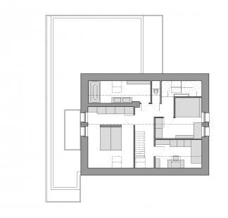 Rekonstrukce a přístavba rodinného domu u Prahy - Půdorys 2NP