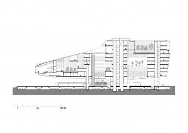 Hlavní sídlo společnosti ING - Podélný řez - foto: MVSA Architects