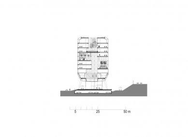 Hlavní sídlo společnosti ING - Příčný řez - foto: MVSA Architects