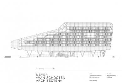 Hlavní sídlo společnosti ING - Jižní pohled - foto: MVSA Architects