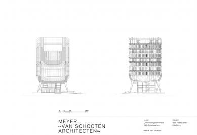 Hlavní sídlo společnosti ING - Východní a západní pohled - foto: MVSA Architects