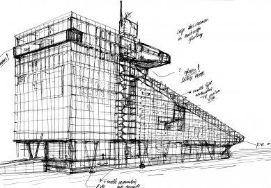 Hlavní sídlo společnosti ING - Skica - foto: MVSA Architects