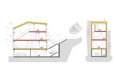 Self-sufficient house Chimney - Řezy - foto: VIZE ATELIÉR, S.R.O.