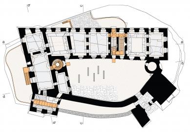 Rekonstrukce paláce hradu Helfštýna - Půdorys 1NP