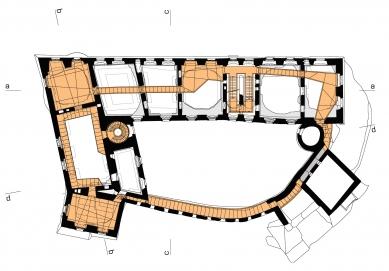 Rekonstrukce paláce hradu Helfštýna - Půdorys 2NP