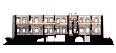 Rekonstrukce paláce hradu Helfštýna - Řez A