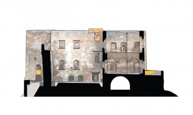 Rekonstrukce paláce hradu Helfštýna - Řez C