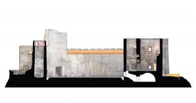 Rekonstrukce paláce hradu Helfštýna - Řez D