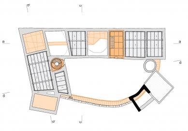 Rekonstrukce paláce hradu Helfštýna - Půdorys střechy