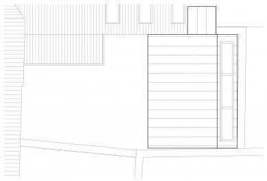 PřístavbakancelářeveVysokémMýtě - Výkres střechy - foto: Prokš Přikryl architekti
